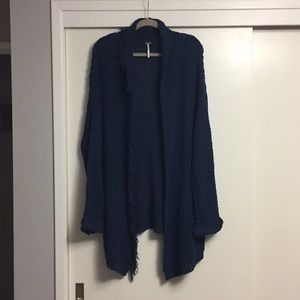 Free People. Navy Blue Chunky Sweater